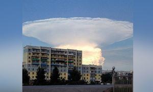 Đám mây nấm giống nổ bom hạt nhân xuất hiện ở Nga