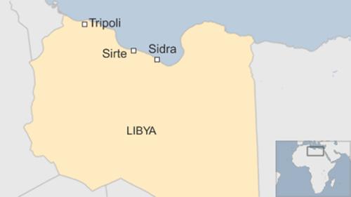 Vị trí thành phố Sirte, Libya. Đồ họa: BBC.