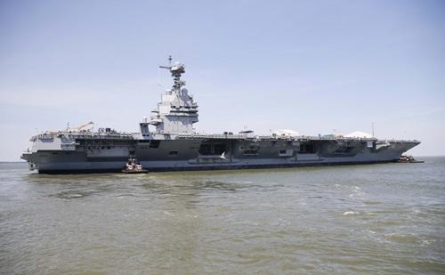 Tàu sân bay USS Gerald R. Ford đắt nhất của Mỹ. Ảnh: