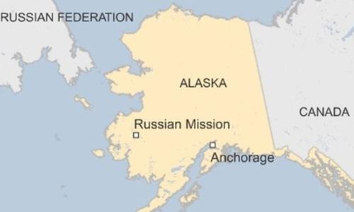 Khu vực bang Alaska của Mỹ. Đồ họa: BBC.