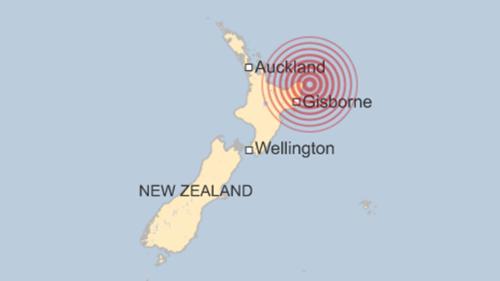 Vị trí tâm chấn động đất. Đồ họa: BBC.