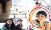 Người đẹp nhận cú tát như trời giáng từ chàng trai khi đi xe buýt