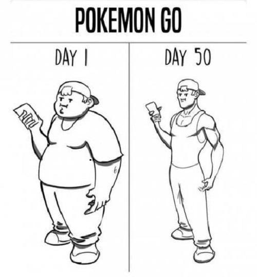Đi bộ săn Pokemon.