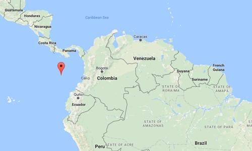 Vị trí đảo Malpelo, Colombia. Đồ họa: Google Maps.