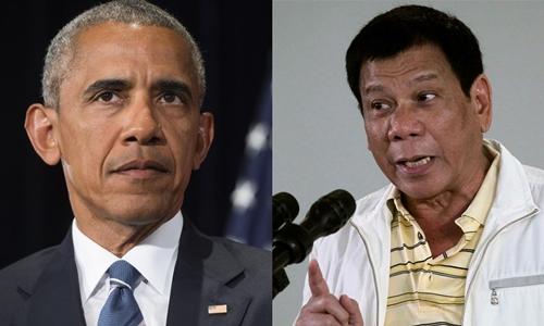 Tổng thống Philippines từng đe dọa sẽ văng tục với ông Obama. Ảnh: WSJ.