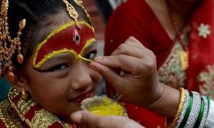Nữ thần sống được người Nepal thờ phụng