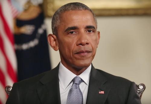 Tổng thống Mỹ Barack Obama trong bài phát biểu được đăng lên tài khoản YouTube của Nhà Trắng.
