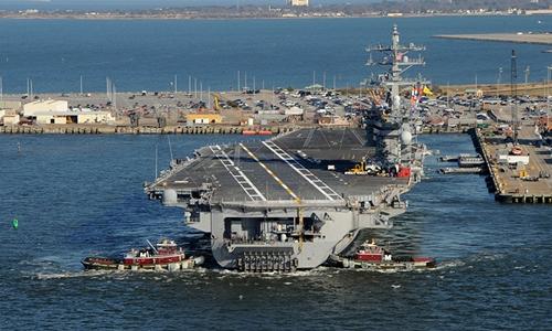 Tàu sân bay USS Dwight D. Eisenhower. Ảnh: Reuters.