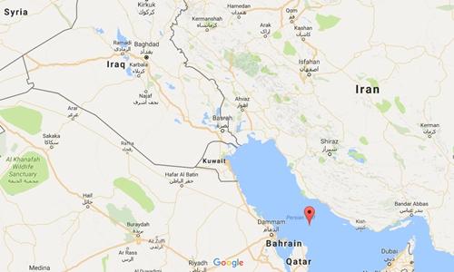 Vị trí vịnh Persian. Đồ họa: Google Maps.