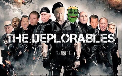 Trump Jr. cũng đăng áp phích phim mang tên The Deplorables (Biệt đội đáng khinh)