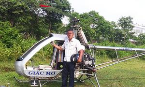 Trực thăng của người thương binh ở Bình Dương bay thử nghiệm