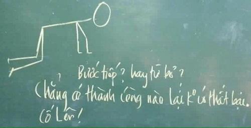 Lời động viên giản dị của thầy giáo.