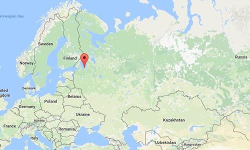 Vị trí vùng Leningrad. Đồ họa: Google Maps.