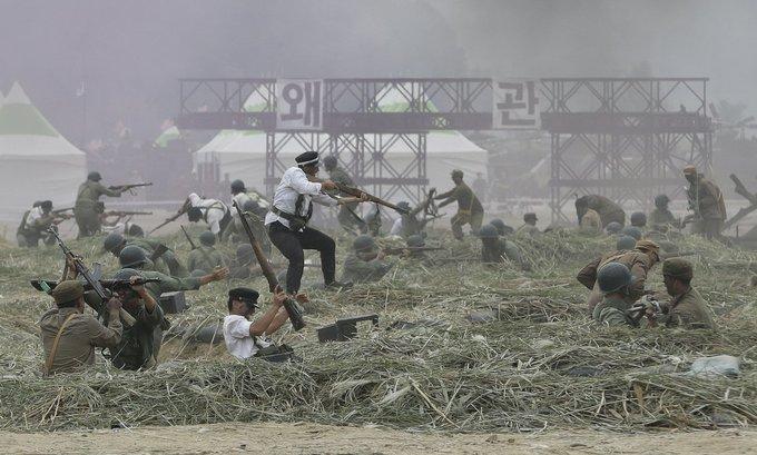 Mỹ - Hàn tái hiện trận chiến đẫm máu với quân đội Triều Tiên