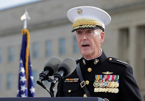 Chủ tịch hội đồng tham mưu trưởng liên quân Mỹ Joseph Dunford. Ảnh: Reuters.