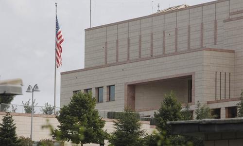 Lãnh sự quán Mỹ tại Adana, Thổ Nhĩ Kỳ. Ảnh: APA.