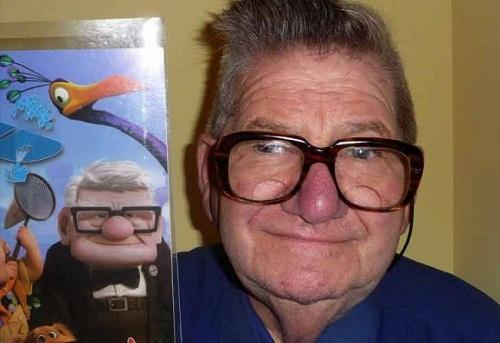 Ông già góa vợ khó Carl trong bộ phim hoạt hình nổi tiếng Up và phiên bản đời thật.