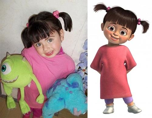 Cô nhóc đáng yêu trong phim hoạt hình Công ty quái vật (Monster, Inc).