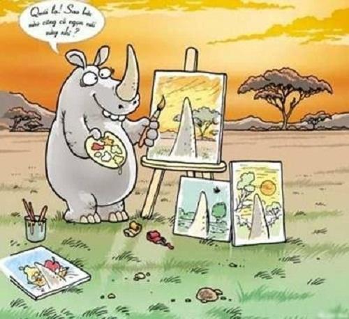 Nỗi băn khoăn của loài tê giác.