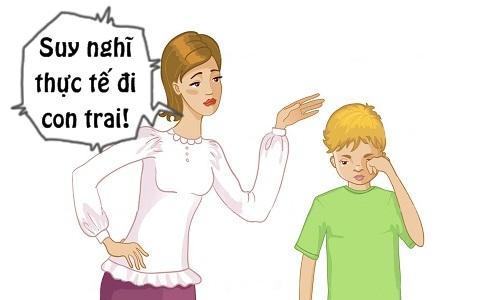 Con trai chết lặng trước lời khuyên của mẹ