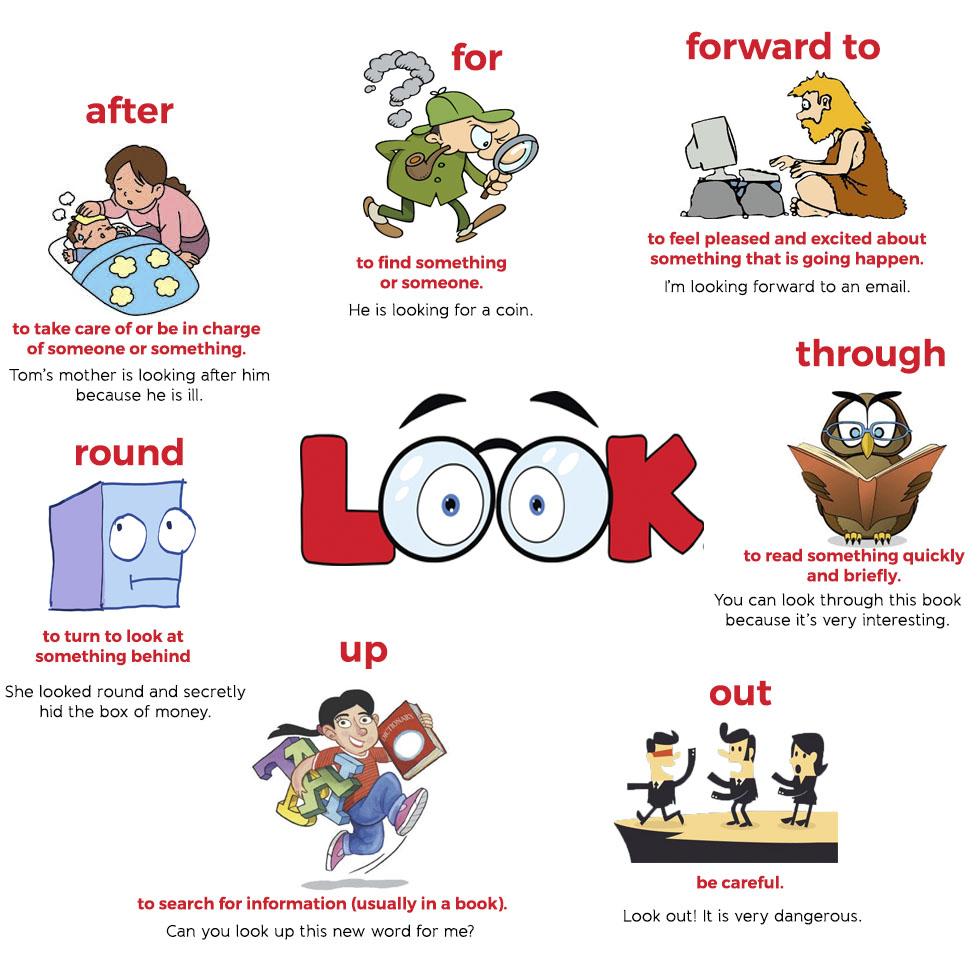 Cụm động từ bắt đầu với 'look'