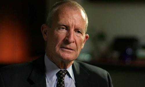 Đô đốc Mỹ Dennis Blair trả lời phỏng vấn. Ảnh: ABC News