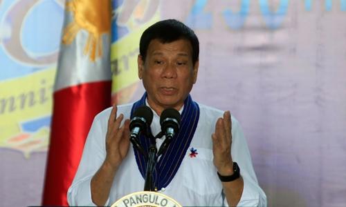 Tổng thống Philippines Duterte nói ông được Trung Quốc, Nga ủng hộ khi chỉ trích Mỹ. Ảnh minh họa: Reuters.