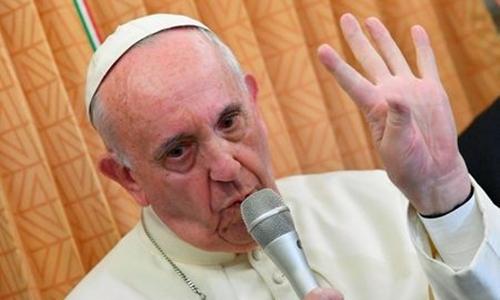 Đức Giáo hoàng Francis kêu gọi người Thiên Chúa giáo Mỹ chọn tổng thống theo lương tâm. Ảnh: Reuters.