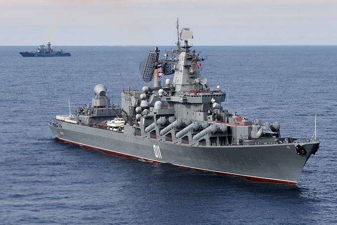 Dàn chiến hạm hùng hậu của Nga diệt IS ở Syria