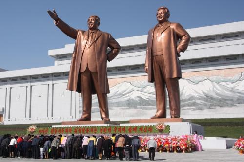 Tượng các cố lãnh đạo Triều Tiên ở Bình Nhưỡng. Ảnh: Wikipedia
