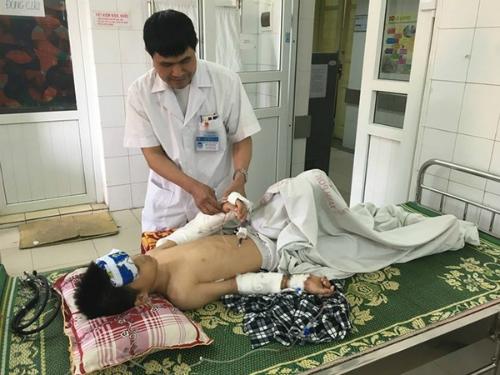 Bệnh nhân Nam trong bệnh viện.