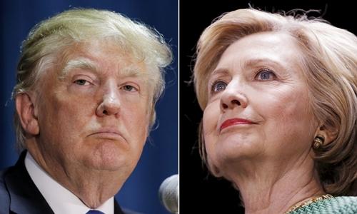 Donald Trump, đảng Cộng hòa (trái), và Hillary Clinton, đảng Dân chủ. Ảnh: Reuters.