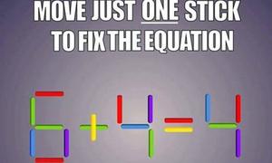 Bạn giải câu đố toán học này thế nào?