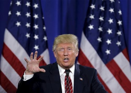 Donald Trump, ứng viên tổng thống Mỹ đảng Cộng hoà. Ảnh: Slate
