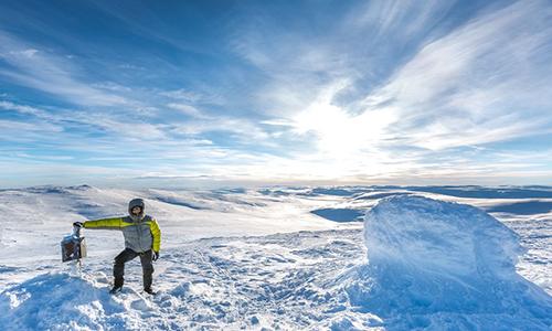 Một người chinh phục đỉnh núi Halti. Ảnh:: Alamy Stock Photo