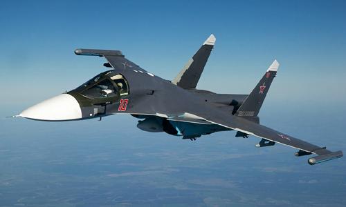 Tiêm kích bom Su-354 Nga. Ảnh: TASS