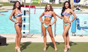Nguyễn Thị Loan thi bikini bên dàn người đẹp quốc tế