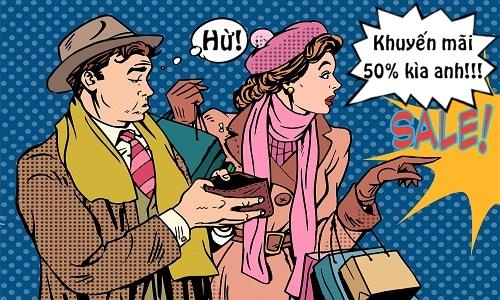 Lý luận của cô vợ mê shopping