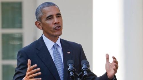 Tổng thống Mỹ Barack Obama hôm 18/10 phát biểu tại Nhà Trắng.