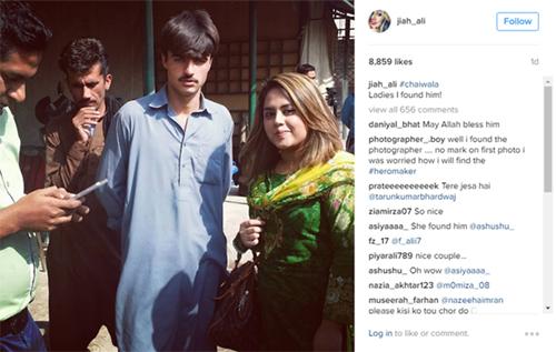 Nữ nhiếp ảnh gia Ali chụp cùngArshad Khan. Ảnh: Instagram