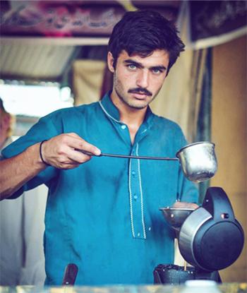 Bức ảnh khiếnArshad Khan gây sốt. Ảnh:Javeria Ali
