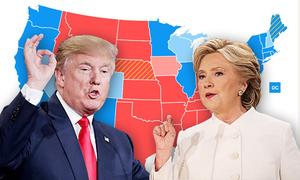 Cục diện cuộc đua Clinton - Trump