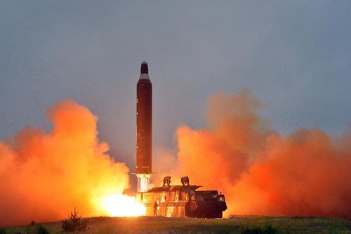 Triều Tiên bắn thử tên lửa đạn đạo tầm trung Musudan. Ảnh: ABC.net.au