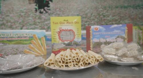Những sản phẩm bánh được làm từ tam giác mạch. Ảnh: bizmedia