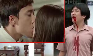 Trường Giang tức giận khi thấy Trấn Thành hôn Nhã Phương
