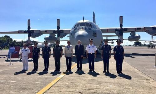 Philippines chính thức tiếp nhận thêm một phi cơ C-130 mua từ Mỹ ngày 24/10. Ảnh: Rappler.