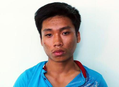 Tên cướp bị bắt giữ sau 10 km tháo chạy. Ảnh: Nguyệt Triều