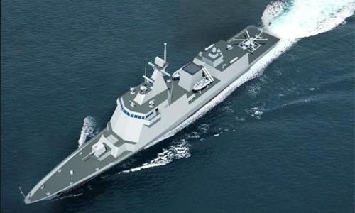 Hình mô phỏng loại tàu hộ tống Hàn Quốc sẽ bán cho Philippines. Ảnh: HHI.
