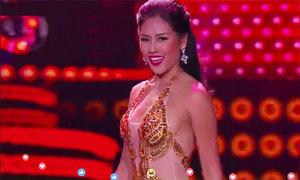 Nguyễn Thị Loan khoe dáng với bikini ở bán kết Hoa hậu Hòa bình Quốc tế