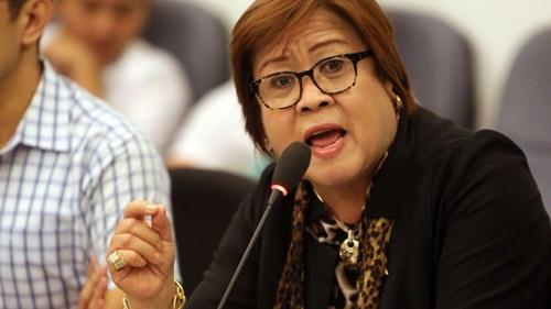 Thượng nghị sĩ Leila de Lima. Ảnh: Inquirer